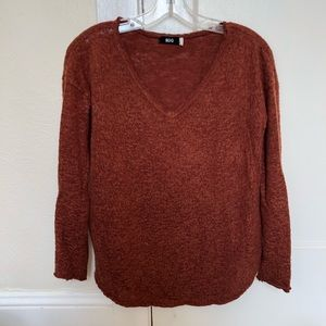 BDG XS burnt orange knit long sleeve top